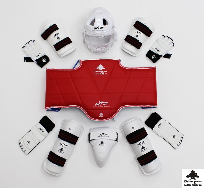 taekwondo set with with visor head gear